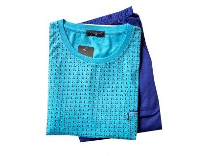 Pánské pyžamo s dlouhým rukávem Big, C-Lemon AH7890 - O