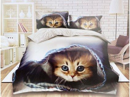Bavlněné povlečení  - Kotě
