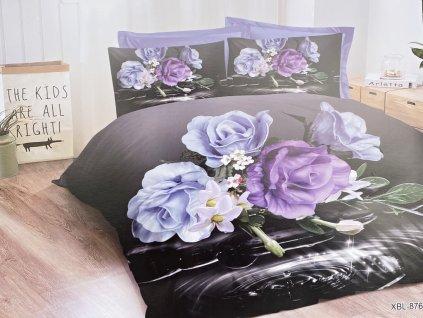 Bavlněné povlečení  - Modré růže