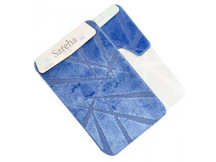 Koupelnová předložka světlá01 modrá Sereha - 2ks
