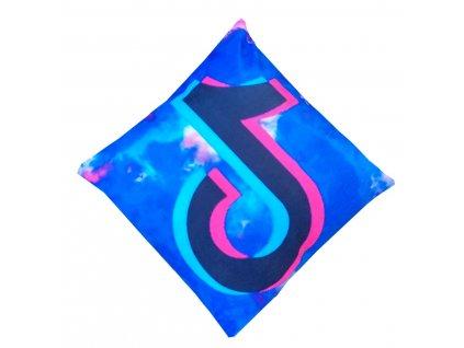Povlak na polštář modrá - Tik tok