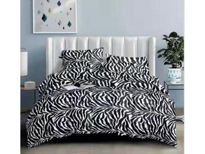 Mikroflanelové povlečení - Styl zebra