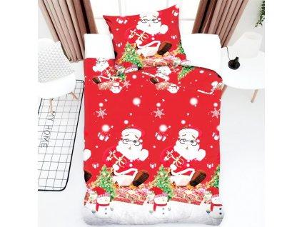 Vánoční povlečení - Santa Claus a vánoční večer