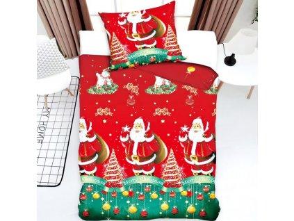Vánoční povlečení - Santa Claus a vánoční strom