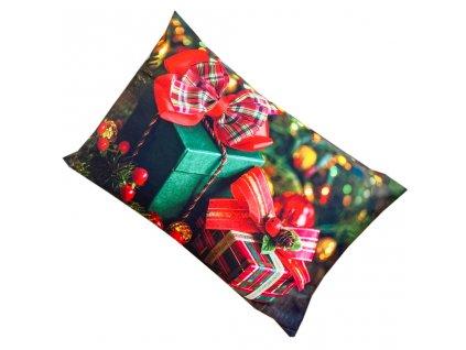 Vánoční povlak na polštář - Dárky
