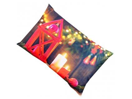 Vánoční povlak na polštář - Nádherné svíčky