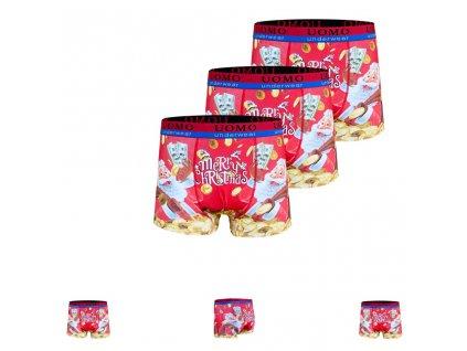 Vanoční boxerky koruna ( 3 ks v balení )