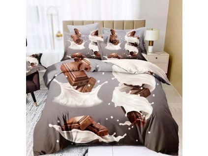 3D povlečení dvojlůžkové - Čokoláda
