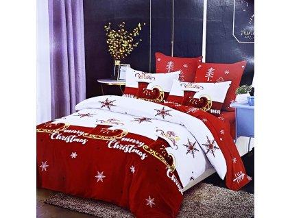 Vánoční francouzské povlečení  - Merry Christmas