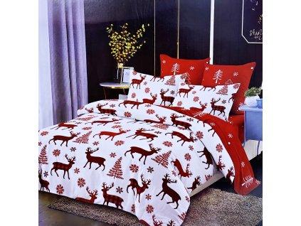 Vánoční povlečení na dvě lůžka - Bílý jelen