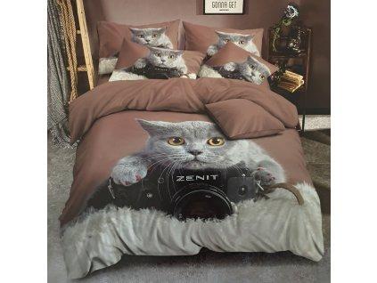 3 dílné 3D povlečení Kočka JOY 1