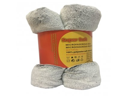 Mikroplyšová deka - šedá, 150 x 200 cm