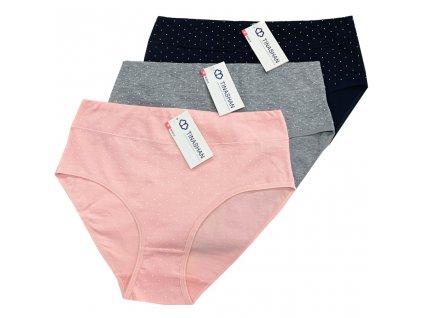 Dámské kalhotky s puntíky Tinasan M3915 ( 3 ks v balení )