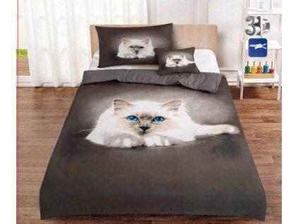 3-dílné 3D povlečení Kočka JOY 5