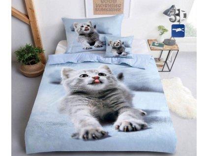 3-dílné 3D povlečení Kočka JOY 6