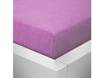 Froté prostěradlo fialová