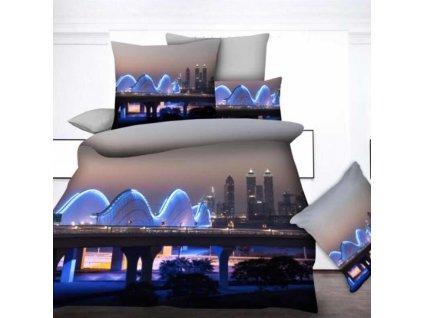 3D povlečení modrý - City