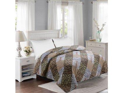 Prošívaný přehoz přes postel 200 x 240 cm SAFARI