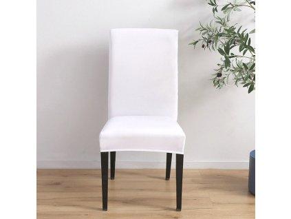 Univerzální potah na židli bílý