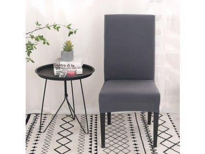 Univerzální potah na židli - šedý