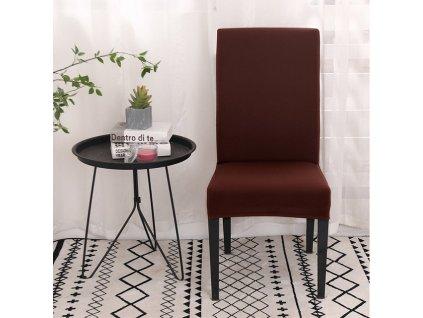 Univerzální potah na židli - hnědý