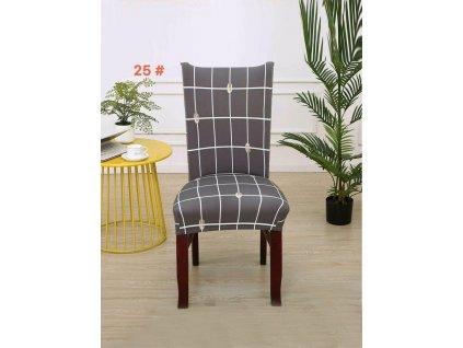 Univerzální potah na židli  šedé - Vidličky