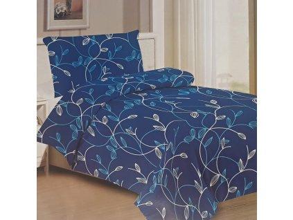 Bavlněné povlečení floral - Blue