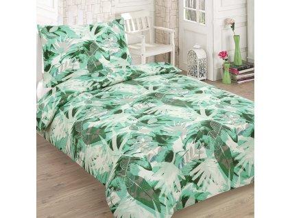 Bavlněné povlečení LEAVES zelená
