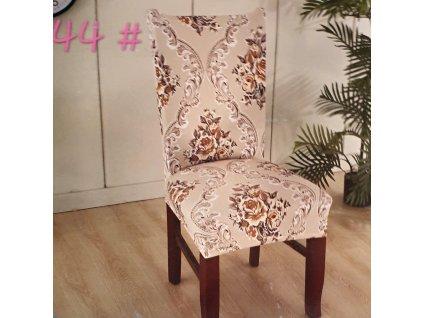 Univerzální potah na židli s florálním motivem 3