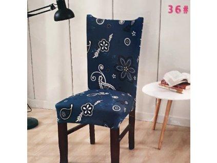 Univerzální potah na židli s florálním motivem 5