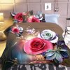 Lusuxní 3D povlečení květiny 13