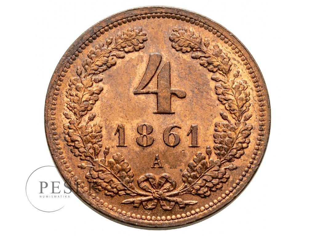 4 krejcar 1861 A
