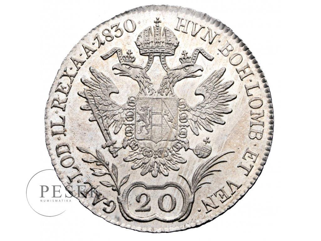 20 Krejcar 1830 B
