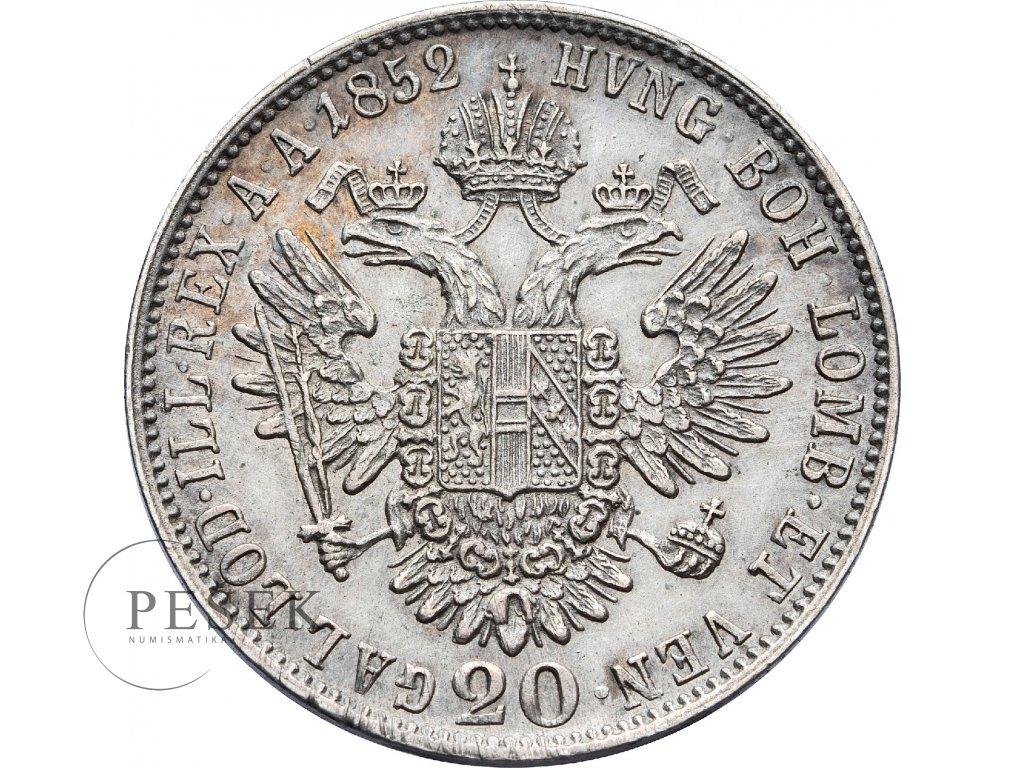 3042 20 krejcar 1852 a