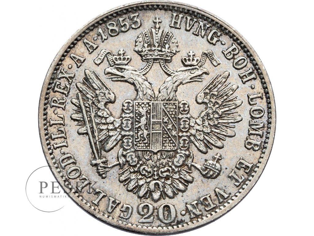 3045 20 krejcar 1853 a