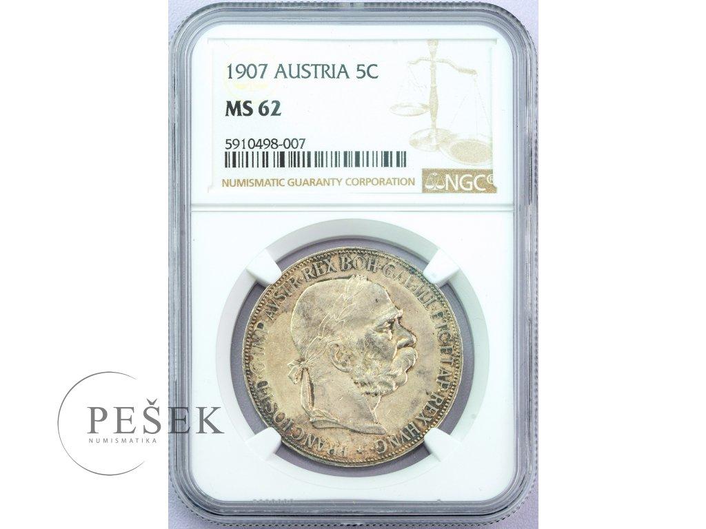 3174 5 koruna 1907 ms62