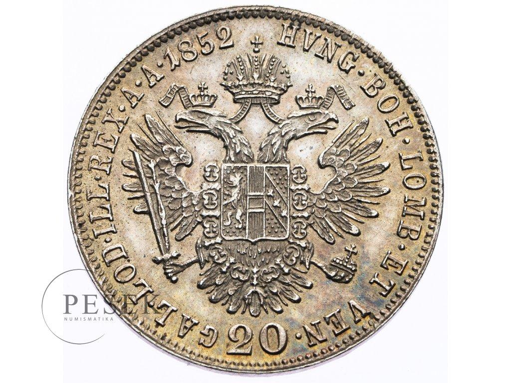 3576 20 krejcar 1852 a