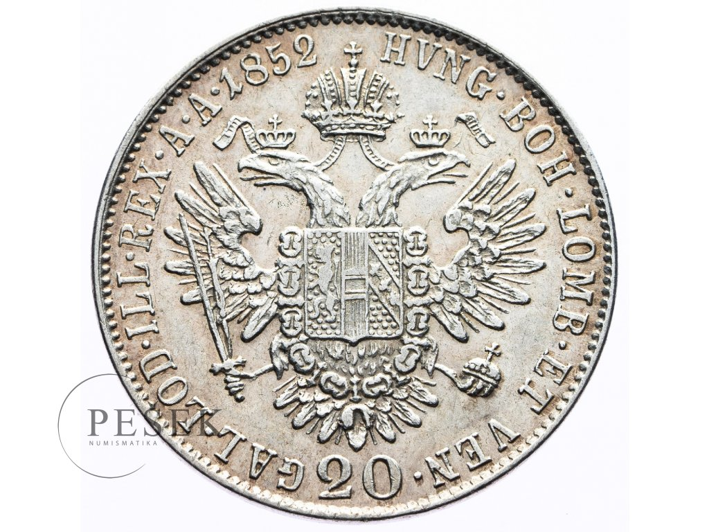 3579 20 krejcar 1852 b