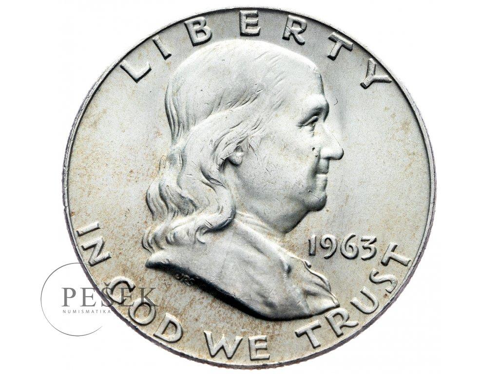 3987 1 2 dollar 1963 franklin