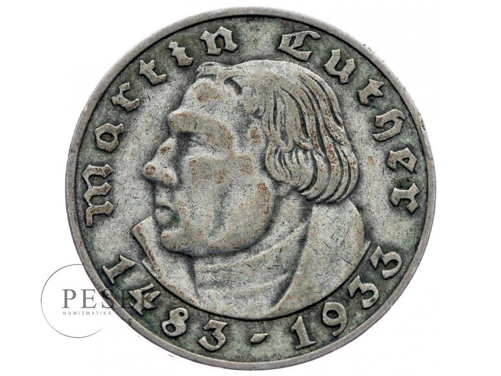 4194 1 nemecko 2 marka 1933 a