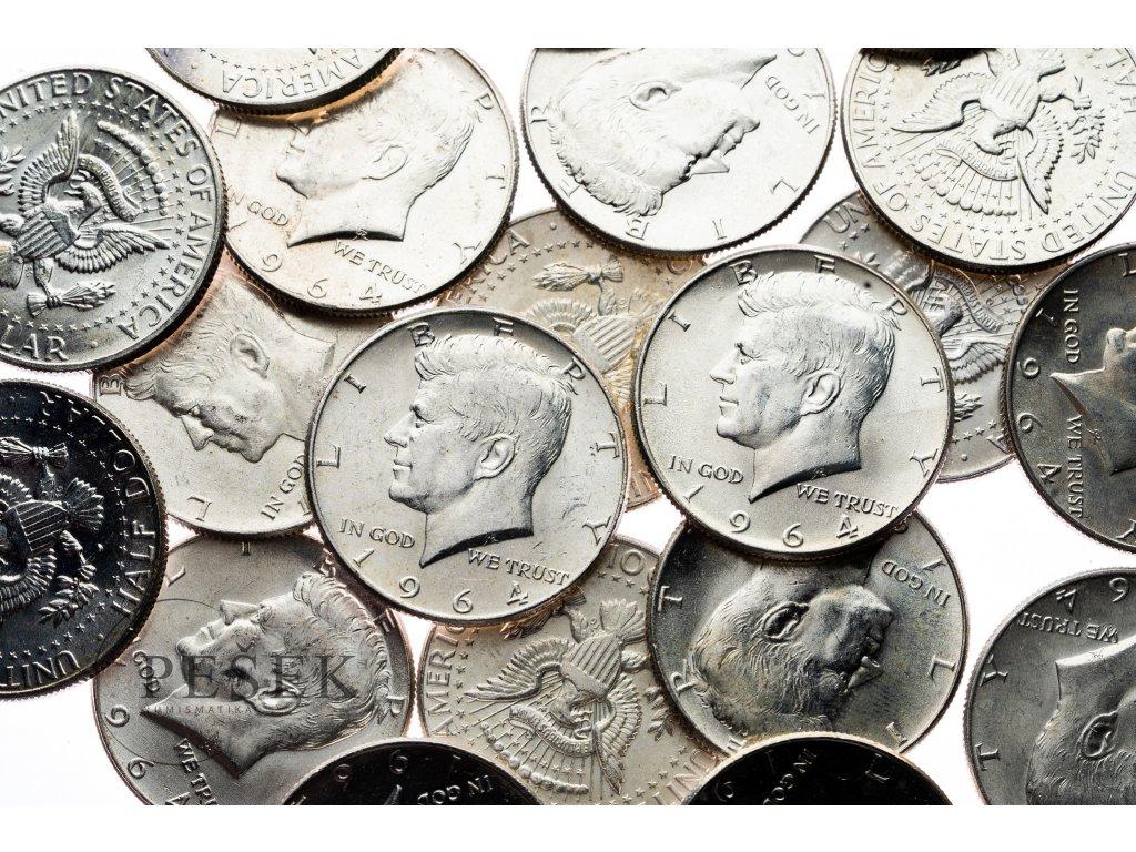 4599 kennedy 1 2 dollar 1964 bankovni jakost