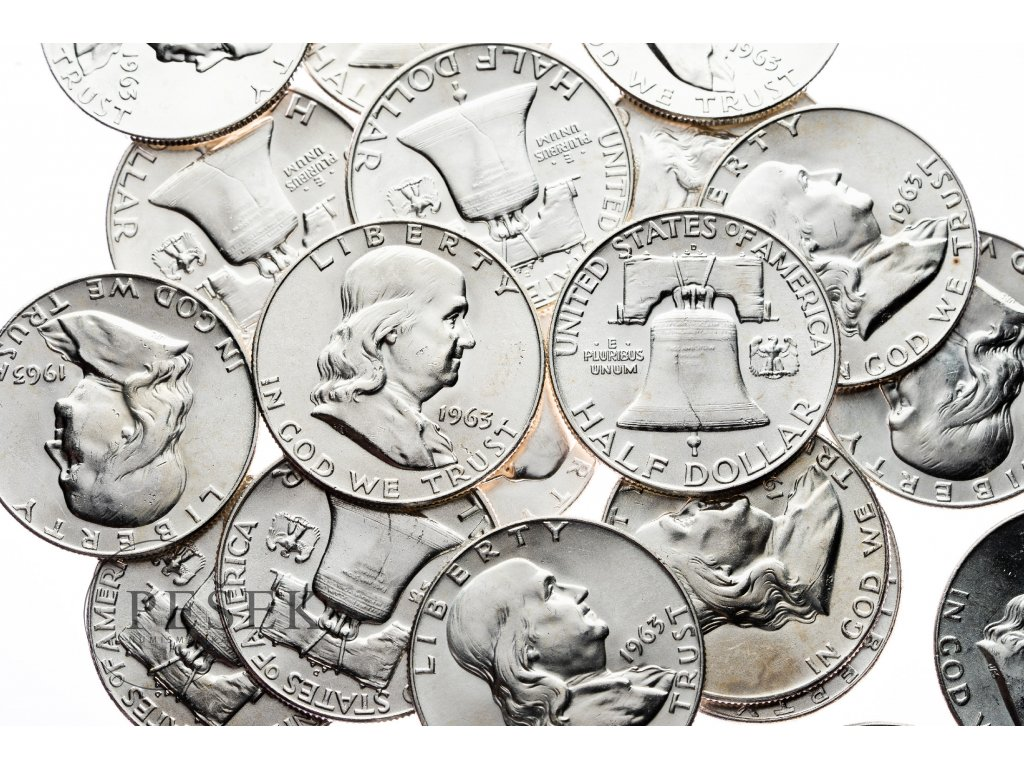 4617 franklin 1 2 dollar 1963 bu
