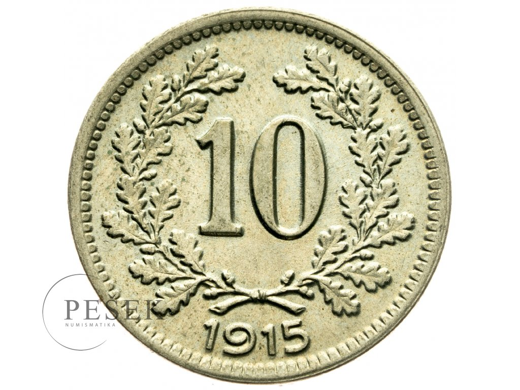 4689 10 haler 1915