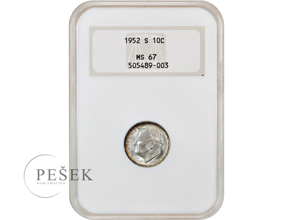 5151 10 cent 1952 s