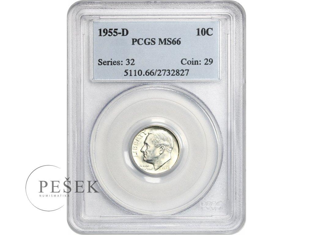 5160 10 cent 1955 d