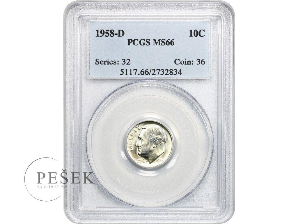 5172 10 cent 1958 d