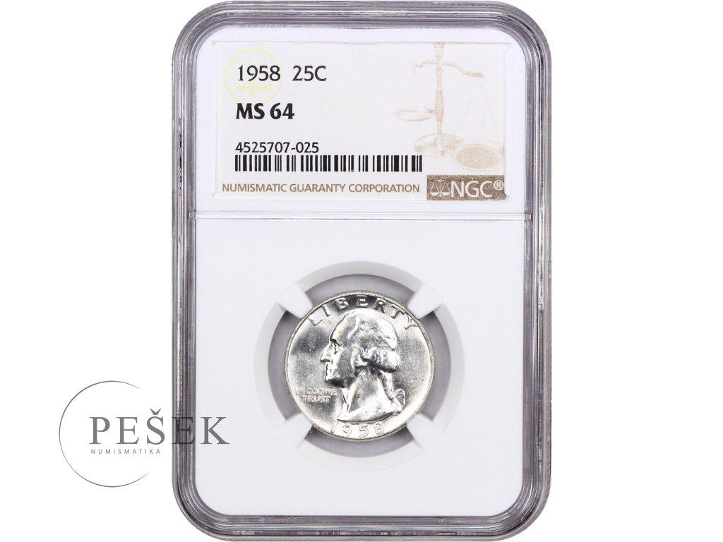5196 25 cent 1958