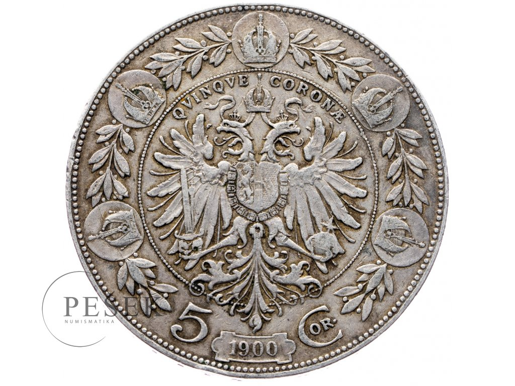5358 5 koruna 1900