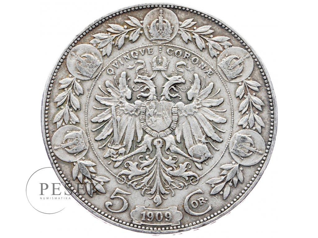 5373 5 koruna 1909 marshall