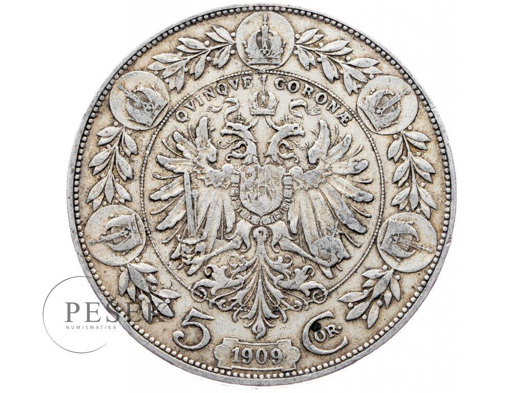5376 5 koruna 1909 marshall